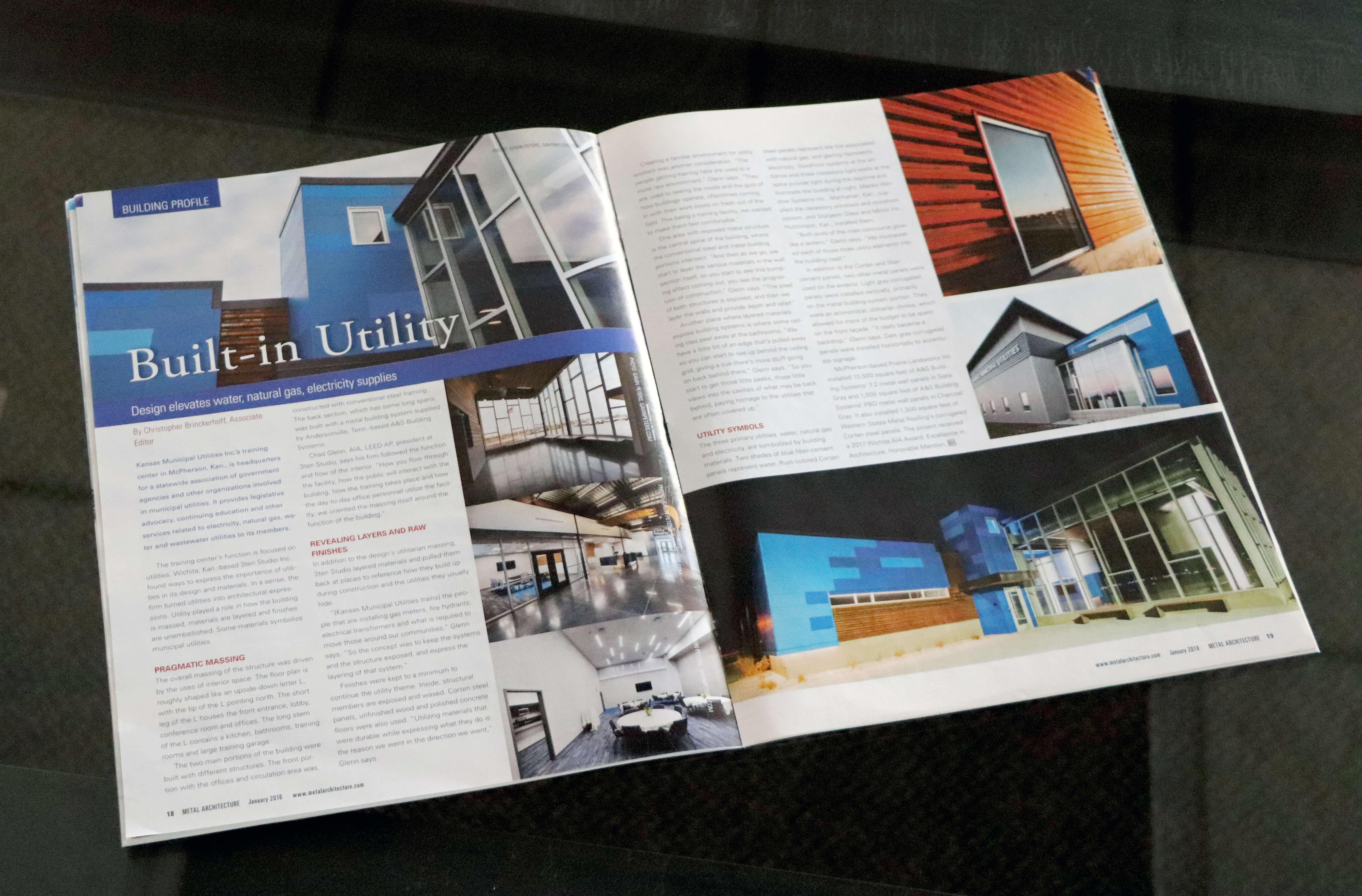 Construction project featured in national magazine